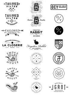 Logos 09- 13 by Jorgen Grotdal, via Behance