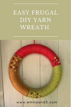 Are you searching for DIY yarn wreath ideas for spring and summer craft projects to do with kids? This tutorial teaches you how to make a colourful wool wreath for your front door. Activities To Do With Toddlers, Easter Activities, Craft Activities, Summer Crafts For Kids, Summer Kids, Kids Crafts, Money Plan, Money Tips, Diy Yarn Wreath