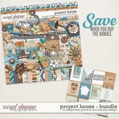 Project House {Bundle} by Blagovesta Gosheva & WendyP Designs is now on sale at Sweet Shoppe Designs as a Bundle or in separate packs