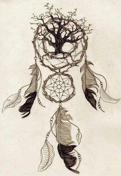 ...some of my favorite things combined, a tree and a dream catcher :) really pretty