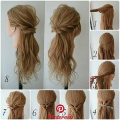 Beautiful Hairstyles For Mid-Length Hair Easy to do   Discover a nice collection of easy and quick tutorials for medium length hair. Inhale yourself Weave Hairstyles, Wedding Hairstyles, Cool Hairstyles, Beautiful Hairstyles, Hairstyle Ideas, Twisted Hairstyles, Semi Formal Hairstyles, Elegant Hairstyles, Hairstyles Haircuts