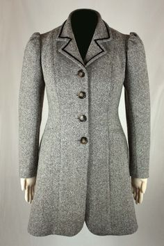 Edwardian Coat 1910 Sewing Pattern #0915 Size US 8-30 (EU 34-56) Pdf Download $