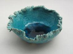 "Vessel, ""Glacier"" series, 2015 (white clay, turquoise blue glaze) - Ceramics by Atelier Saskia Lauth / France - www.saskia-lauth.com"