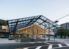Yugawara Station Square © imagegram inc. Retail Architecture, Wood Architecture, Sustainable Architecture, Ancient Architecture, Market Hall, Residence Senior, Warehouse Design, Industrial Office Design, Kengo Kuma