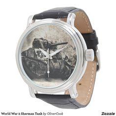 World War 2 Sherman Tank Watches Tank Watch, Sherman Tank, World War, Military, Watches, Men, Accessories, Wristwatches, Clocks
