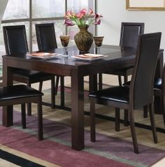 Coaster 101391SET5 Morningside Semi-Formal 5 Pcs Dining Set (Table and 4 Chairs) by Coaster Co.
