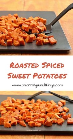 These roasted spiced sweet potatoes are seasoned with bold spices and then roasted until crisp and golden