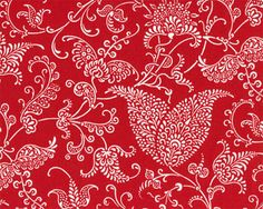 Small Paisley Lipstick / White | Online Discount Drapery Fabrics and Upholstery Fabric Superstore!