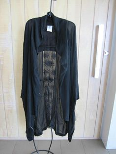 FOUND BY black floral lace back panel swing duster coat-16/18 $750 Never worn!!!   £159.22 (BIN)