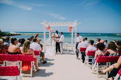 Pure paradise package in pink designed by renowned wedding planner Karen Bussen. Destination wedding in Jamaica #SimpleStunningWeddings #KarenBussen