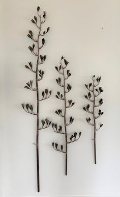 Copper Flax Flower Wall Art