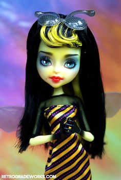 Zina - Custom Monster High Bee Girl Repaint by Retrograde Works, LLC on Flickr.