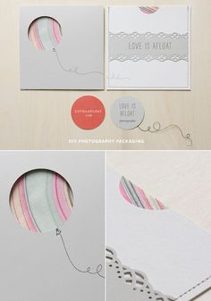 "DIY Photography Packaging // ""Love is afloat"" // Akula Kreative"