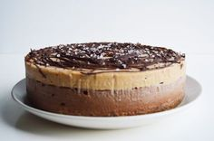 Vegan Chocolate Salted Caramel Cheesecake (coconut milk, dates, cashews)