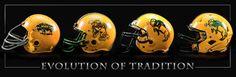 """Evolution of Tradition"" - North Dakota State University Bison Helmets - Print #NDSU"
