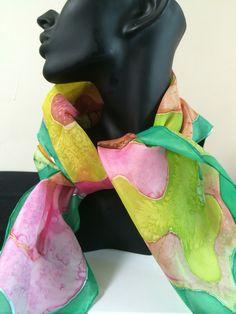 Summer scarves  100% silk hand painted scarves www.carolina-k.co.uk