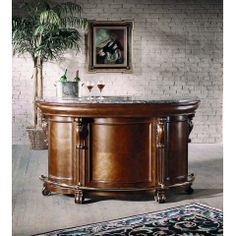 Edwardian Home Bar in Cherry - CLOSEOUT, Pulaski, Accents Collection
