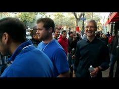 iPhone Mania: Tim Cook Surprises at Apple Store