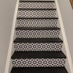 Stair Riser Vinyl Strips Removable Sticker Peel & Stick for 15 steps Tile Decals, Wall Tiles, Vinyl Decals, Tile Stickers Kitchen, Wall Waterproofing, Tile Stairs, Linoleum Flooring, Floors, Cheap Vinyl