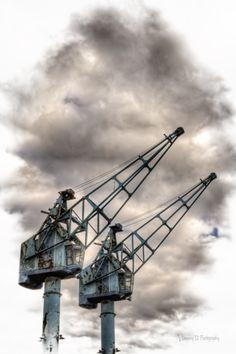 Old cargo cranes.