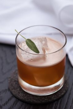 Fresh sage makes for a flavorful winter cocktail - Highland Sage Thanksgiving Cocktails, Winter Cocktails, Christmas Cocktails, Craft Cocktails, Homemade Eggnog, Homemade Liquor, Fruit Drinks, Yummy Drinks, Party Drinks