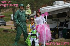 Entire Family Halloween Costumes  Enough Characters for Everyone!