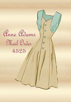 Sewing Pattern 1950s Dress Anne Adams Mail Order 4525 with Short Bolero Jacket Plus Size Bust 38
