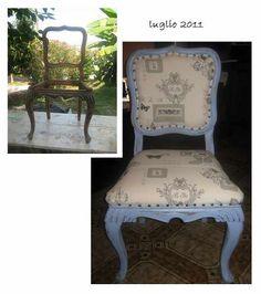 come recuperare una vecchia sedia in stile shabby chic