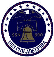 USS Philadelphia (SSN-690), a Los Angeles-class attack submarine, was the sixth ship of the United States Navy to be named for Philadelphia, Pennsylvania. The contract to build her was awarded to the Electric Boat Division of General Dynamics Corporation in Groton, Connecticut on 8 January 1971 and her keel was laid down on 12 August 1972. She was launched on 19 October 1974
