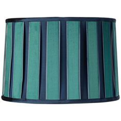 Blue And Green Block Drum Shade 13x14x9 5 Spider Y1754