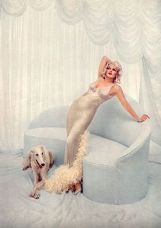 Marilyn Monroe photographed as Jean Harlow by Richard Avedon, 1958.