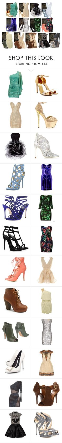 """""""Hunger Games Interview Outfits (plus District 13)"""" by rae-and-morris ❤ liked on Polyvore featuring Gucci, 2 Lips Too, Loriblu, Giuseppe Zanotti, Versace, Sergio Rossi, Lipsy, Steve Madden, TIBI and Vince Camuto"""