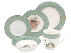 Get a great deal on Wedgwood - Sarah's Garden Green Dinner Set at Peter's of Kensington. Why in the world would you shop anywhere else for Wedgwood? Green Dinner Sets, Sarah's Garden, Worcester, Wedgwood, Decorative Plates, Dishes, Dining, Tableware, Kitchen