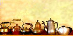 "X ""Her Collection""- Digital Painting-Tea Pots - Giclee Print- Wall Decor - Gift Idea- Floral Tea Cup Saucer, Tea Cups, Silver Tea Set, Clark Art, My Cup Of Tea, Wall Prints, Tea Party, Photo Art, Giclee Print"