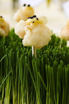 shrimp tempura lollipops by Boutique Bites