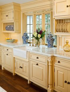 French Country inspired kitchen-love