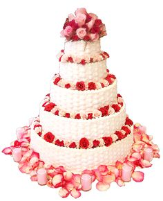 Roses and petals cake