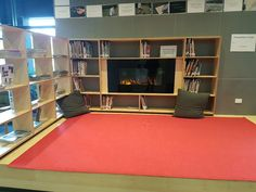 This relaxing area had a TV with a Open Fire video playing on it. Spotted at St Columbas library