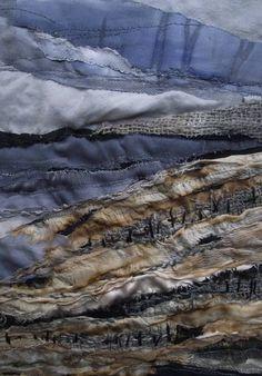 Drifting Sands Collage Artists, Textile Artists, Landscape Quilts, Landscape Art, Fiber Art, Fiber Fibre, Applique, Textiles, Mixed Media Artwork