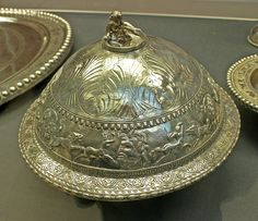 Flanged bowl and cover, 4th century A.D.