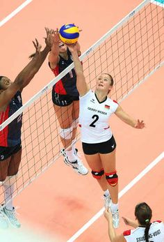 volleyball... That is funny the white and black uniform is just like the one I wore.