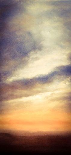 """Sunrise over Hevingham. Oil on canvas 30"""" x 20"""" by Nial Adams at Big Norfolk Skies  #Norfolk #ArtforSale"""