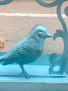 Trés Charmant! Detail from a French Farmhouse Bird Feeder (Etsy.com)...