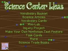 Everything you need to know about setting up a Science Content Center in your classroom.