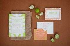 A tropical + sophisticated letterpress wedding suite | MaeMae Paperie #weddingstationery #destinationwedding #letterpress
