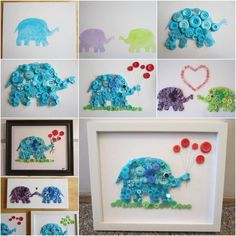 I love buttons ever since I was a kid. They are so cute and come in different colors and sizes. There are lots of things you can do with buttons. Here's a fun DIY project to make adorable button elephants. They are very easy to make. Simply outline the sketch of the elephant, paint with …