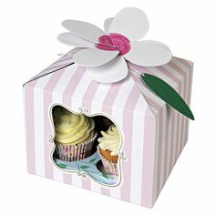 I'm a Princess Large Cupcake Boxes I'm a Princess Party Goods A beautiful large cake box decorated with a pink stripe and ornamental window, finished Large Cupcake, Cupcake Gift, Cupcake Boxes, Box Cake, Cupcake Holders, Cupcake Stands, Rose Cupcake, House Doctor, Watermelon Cupcakes