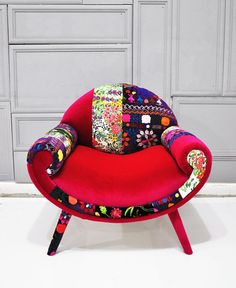 Smiley Patchwork armchair  June by namedesignstudio on Etsy, $1350.00