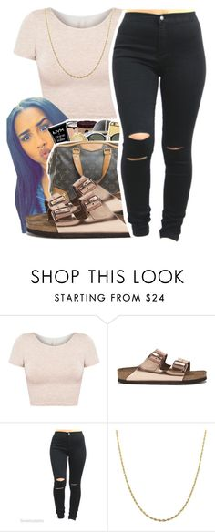 """""""For the World"""" by queen-vanessa ❤ liked on Polyvore featuring American Apparel, Birkenstock and Fremada"""