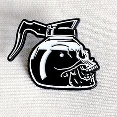 Repost from @nohours - Coffee skull lapel pins are back and going fast! These won't last long so swoop one up before they are gone again. #NoHOURS #coffeeskull #coffee #balckcoffee #limited #skull    (Posted by https://bbllowwnn.com/) Tap the photo for purchase info.  Follow @bbllowwnn on Instagram for the best pins & patches!